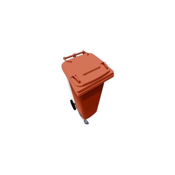 contenedor-de-basura-vic-120-hd-con-pedal-naranja | E4-4335